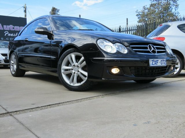 Used Mercedes-Benz CLK200K C209 MY06 Elegance, 2006 Mercedes-Benz CLK200K C209 MY06 Elegance Black Crystal 5 Speed Auto Touchshift Coupe