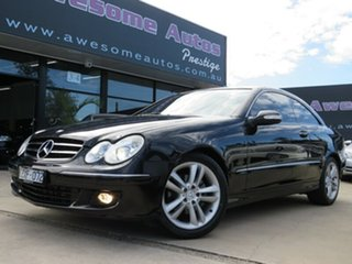2006 Mercedes-Benz CLK200K C209 MY06 Elegance Black Crystal 5 Speed Auto Touchshift Coupe