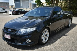 2009 Ford Falcon FG XR6 Super Cab Black 6 Speed Manual Cab Chassis.