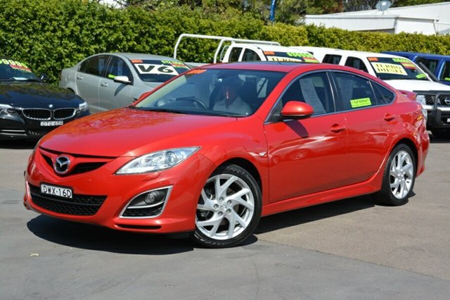 Used Mazda 6 GH1052 MY10 Luxury Sports, 2010 Mazda 6 GH1052 MY10 Luxury Sports Red 5 Speed Sports Automatic Hatchback