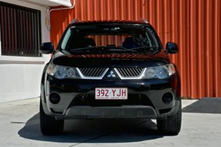 2009 Mitsubishi Outlander ZG MY09 LS Black 6 Speed Constant Variable Wagon.