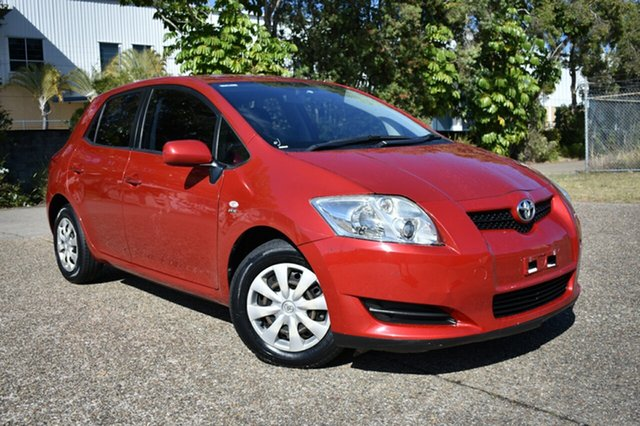 Used Toyota Corolla ZRE152R Ascent, 2008 Toyota Corolla ZRE152R Ascent Red 4 Speed Automatic Hatchback