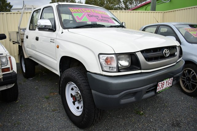Used Toyota Hilux VZN167R MY02 SR5, 2004 Toyota Hilux VZN167R MY02 SR5 White 4 Speed Automatic Utility