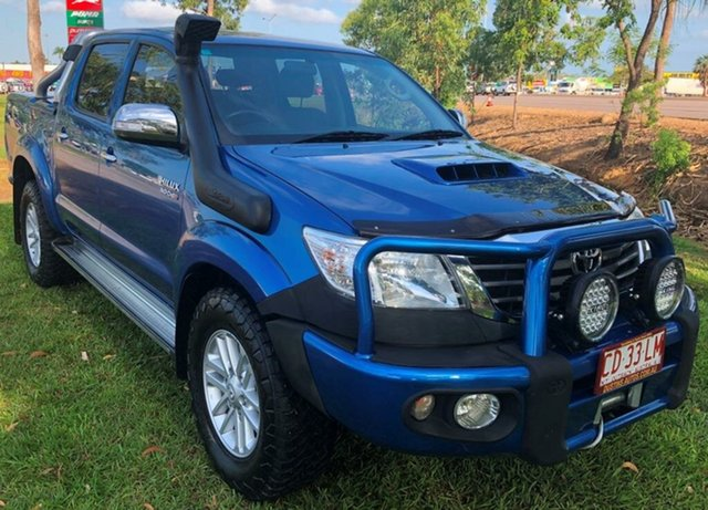 Used Toyota Hilux KUN26R MY12 SR5 Double Cab, 2013 Toyota Hilux KUN26R MY12 SR5 Double Cab Blue 5 Speed Manual Utility
