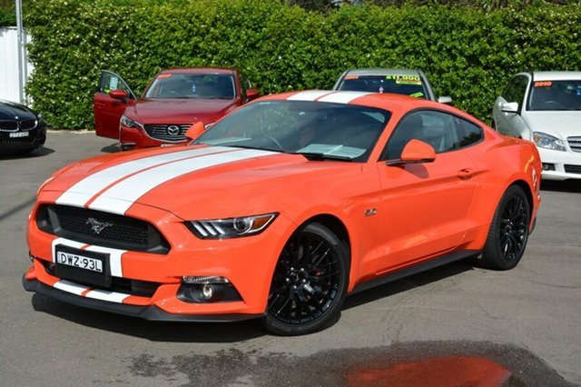 Used Ford Mustang FM GT Fastback, 2015 Ford Mustang FM GT Fastback Orange 6 Speed Manual Fastback