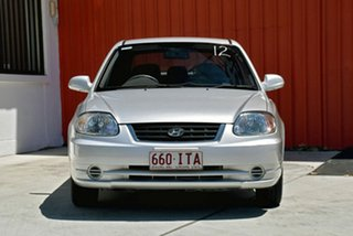 2005 Hyundai Accent LC MY04 GL Silver 4 Speed Automatic Hatchback.