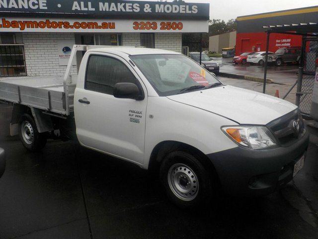 Used Toyota Hilux TGN16R Workmate, 2006 Toyota Hilux TGN16R Workmate White 5 Speed Manual Cab Chassis