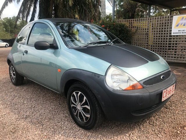 Used Ford Ka TA MY2000 , 1999 Ford Ka TA MY2000 Green 5 Speed Manual Hatchback