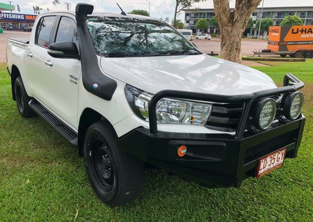 Used Toyota Hilux GUN126R SR Double Cab, 2016 Toyota Hilux GUN126R SR Double Cab White 6 Speed Sports Automatic Utility