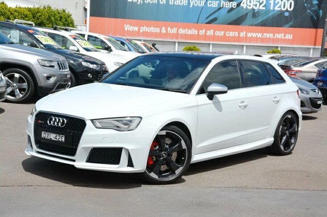 Used Audi RS 3 8V MY16 Sportback S tronic quattro, 2016 Audi RS 3 8V MY16 Sportback S tronic quattro White 7 Speed Sports Automatic Dual Clutch