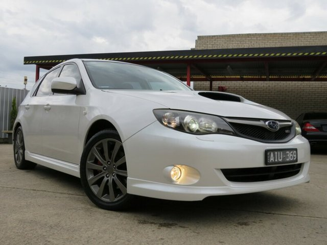Used Subaru Impreza MY09 WRX (AWD), 2009 Subaru Impreza MY09 WRX (AWD) Pearl White 5 Speed Manual Hatchback
