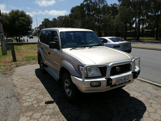 Used Toyota Landcruiser Prado KZJ95R GXL, 2000 Toyota Landcruiser Prado KZJ95R GXL Gold 5 Speed Manual Wagon