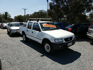 2002 Holden Rodeo TF MY02 LT Crew Cab 4x2 White 4 Speed Automatic Utility.