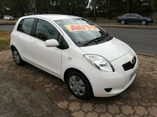 2007 Toyota Yaris NCP90R YR White 4 Speed Automatic Hatchback.
