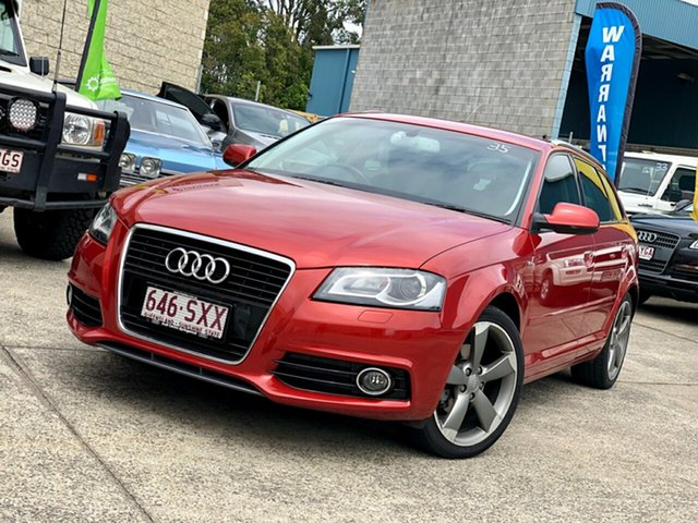 Used Audi A3 8P MY13 Ambition Sportback S tronic, 2012 Audi A3 8P MY13 Ambition Sportback S tronic Red 7 Speed Sports Automatic Dual Clutch Hatchback