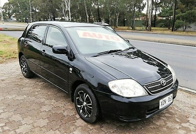 Used Toyota Corolla ZZE122R MY03 Conquest, 2002 Toyota Corolla ZZE122R MY03 Conquest Black 4 Speed Automatic Hatchback
