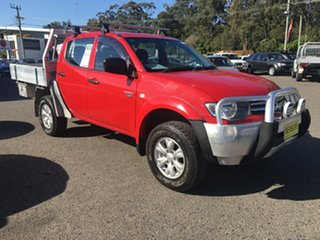 2011 Mitsubishi Triton MN MY11 GLX 4X4 TURBO DIESEL AUTO Red 5 Speed Automatic Dual Cab.