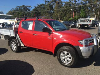 2011 Mitsubishi Triton MN MY11 GLX 4X4 TURBO DIESEL AUTO Red 5 Speed Automatic Dual Cab