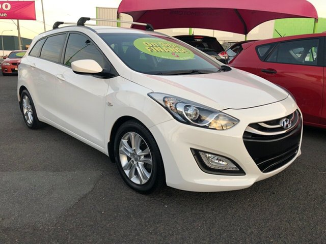 Used Hyundai i30 GD Active Tourer, 2014 Hyundai i30 GD Active Tourer White 6 Speed Sports Automatic Wagon