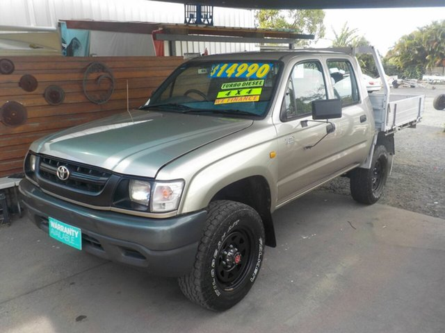 Used Toyota Hilux LN167R (4x4), 2003 Toyota Hilux LN167R (4x4) Gold 5 Speed Manual 4x4 Dual Cab Pick-up