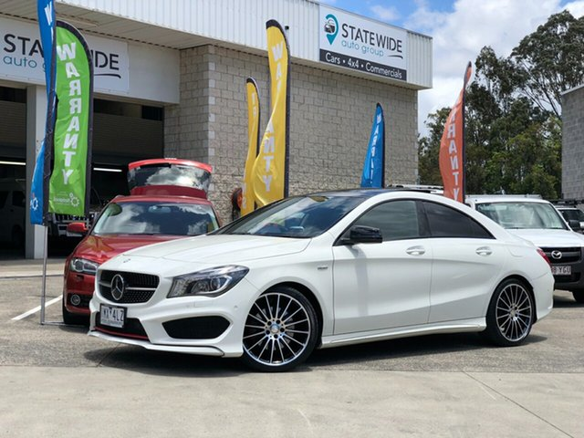 Used Mercedes-Benz CLA250 C117 806MY Sport DCT 4MATIC, 2016 Mercedes-Benz CLA250 C117 806MY Sport DCT 4MATIC White 7 Speed Sports Automatic Dual Clutch