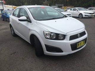 2011 Holden Barina TM White 6 Speed Automatic Sedan.