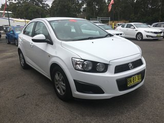 2011 Holden Barina TM White 6 Speed Automatic Sedan