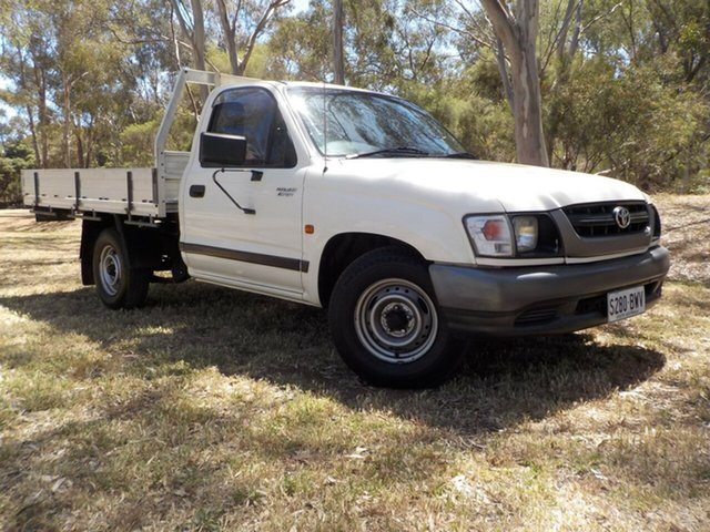 Used Toyota Hilux RZN149R MY02 4x2, 2003 Toyota Hilux RZN149R MY02 4x2 White 4 Speed Automatic Cab Chassis