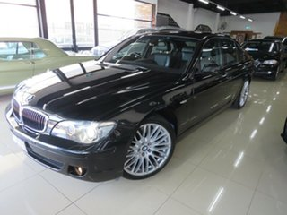 2008 BMW 740i E65 Sport Royal Black 6 Speed Auto Steptronic Sedan.