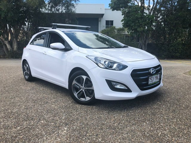 Used Hyundai i30 GD4 Series II MY16 Active X, 2015 Hyundai i30 GD4 Series II MY16 Active X White 6 Speed Sports Automatic Hatchback