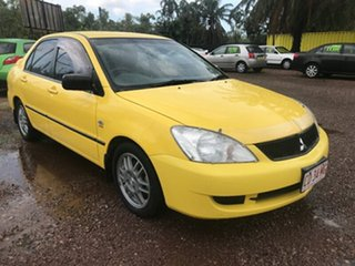 2007 Mitsubishi Lancer CH MY07 ES Yellow 5 Speed Manual Sedan.