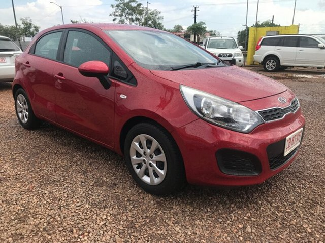 Used Kia Rio UB MY13 S, 2013 Kia Rio UB MY13 S Red 4 Speed Sports Automatic Hatchback