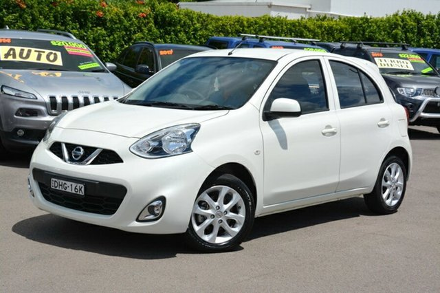 Used Nissan Micra K13 Series 4 MY15 TI, 2016 Nissan Micra K13 Series 4 MY15 TI White 4 Speed Automatic Hatchback