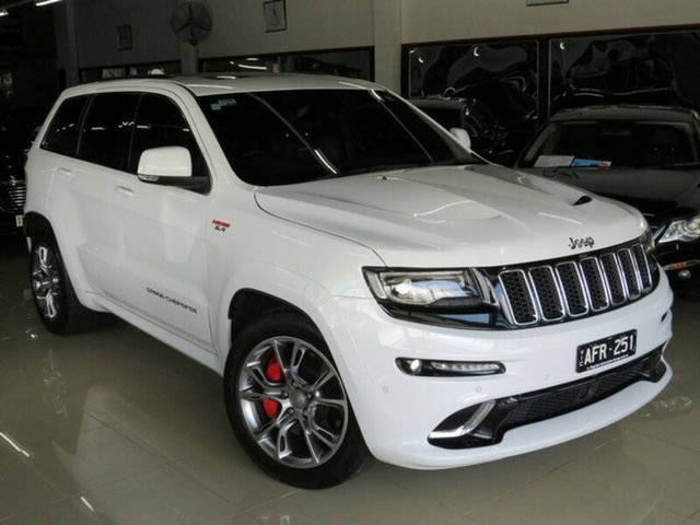 Used Jeep Grand Cherokee WK MY15 SRT 8 (4x4), 2015 Jeep Grand Cherokee WK MY15 SRT 8 (4x4) Bright White 8 Speed Automatic Wagon