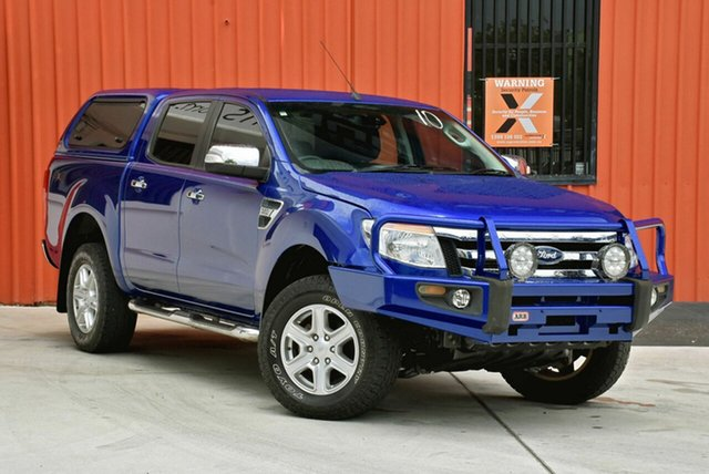 Used Ford Ranger PX XLT Double Cab, 2011 Ford Ranger PX XLT Double Cab Blue 6 Speed Manual Utility