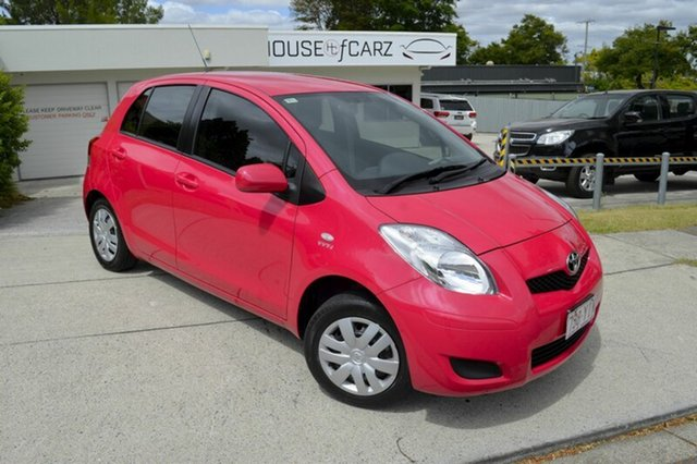 Used Toyota Yaris NCP90R MY10 YR, 2010 Toyota Yaris NCP90R MY10 YR Pink 4 Speed Automatic Hatchback