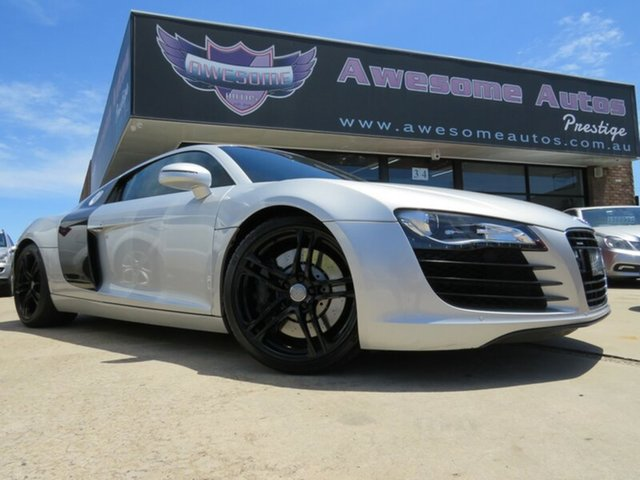 Used Audi R8  4.2 FSI Quattro, 2011 Audi R8 4.2 FSI Quattro Ice Silver 6 Speed Manual Coupe
