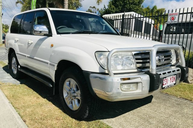 Used Toyota Landcruiser UZJ100R Upgrade Sahara (4x4), 2007 Toyota Landcruiser UZJ100R Upgrade Sahara (4x4) White 5 Speed Automatic Wagon