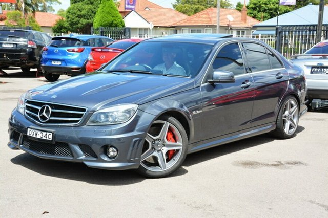 Used Mercedes-Benz C63 W204 AMG, 2010 Mercedes-Benz C63 W204 AMG Grey 7 Speed Sports Automatic Sedan