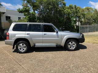 2010 Nissan Patrol GU 7 MY10 ST Silver 4 Speed Automatic Wagon.