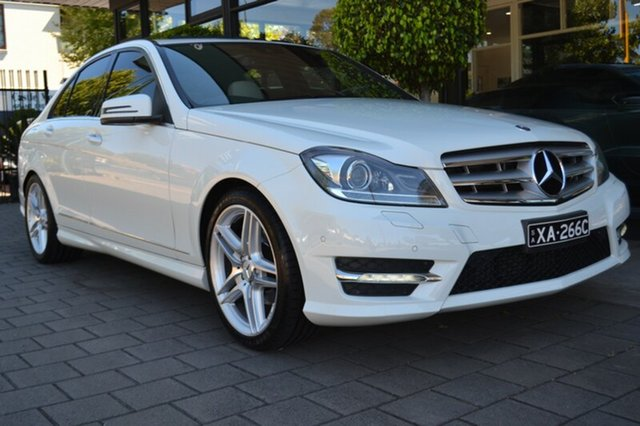 Used Mercedes-Benz C250 CGI W204 MY10 Avantgarde, 2011 Mercedes-Benz C250 CGI W204 MY10 Avantgarde White 5 Speed Sports Automatic Sedan