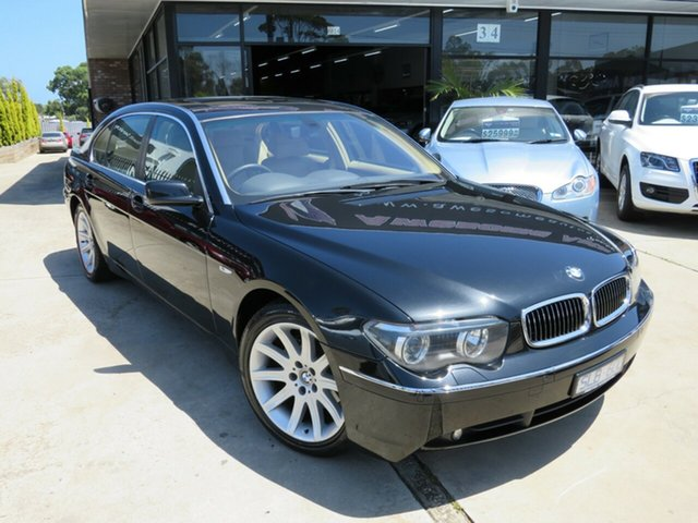 Used BMW 735Li E66 , 2003 BMW 735Li E66 Black Crystal 6 Speed Auto Steptronic Sedan