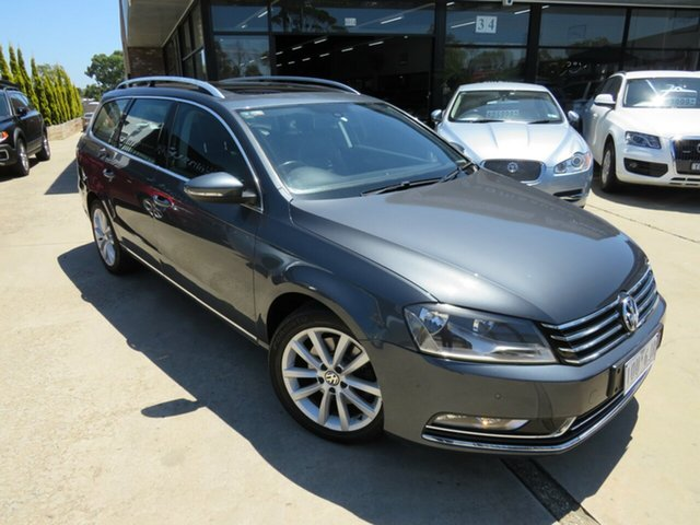 Used Volkswagen Passat 3C MY12 125 TDI Highline, 2012 Volkswagen Passat 3C MY12 125 TDI Highline Grey Aluminium 6 Speed Direct Shift Wagon