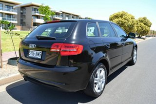 2010 Audi A3 8P MY11 Attraction Sportback S tronic Black 7 Speed Sports Automatic Dual Clutch.