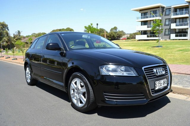 Used Audi A3 8P MY11 Attraction Sportback S tronic, 2010 Audi A3 8P MY11 Attraction Sportback S tronic Black 7 Speed Sports Automatic Dual Clutch