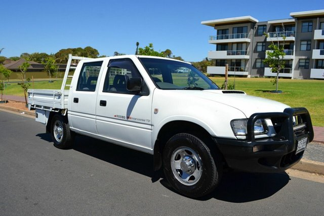 Used Holden Rodeo TF MY02 LX Crew Cab 4x2, 2001 Holden Rodeo TF MY02 LX Crew Cab 4x2 White 5 Speed Manual Utility