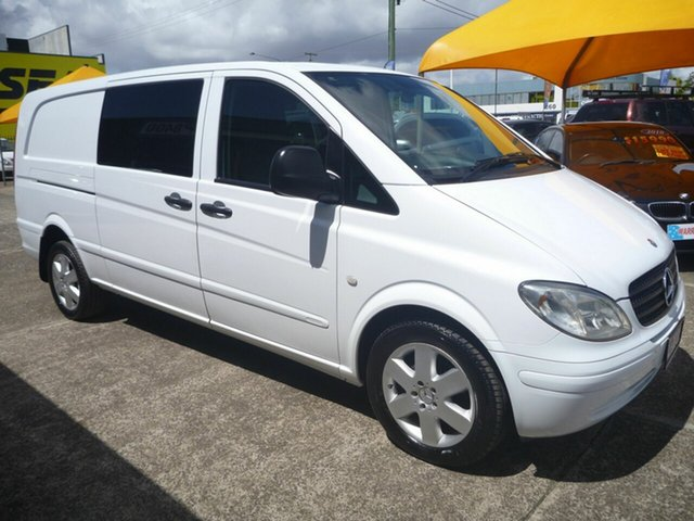 Used Mercedes-Benz Vito 639 MY08 120CDI Crew Cab Low Roof Extra Long, 2008 Mercedes-Benz Vito 639 MY08 120CDI Crew Cab Low Roof Extra Long White 5 Speed Automatic Van