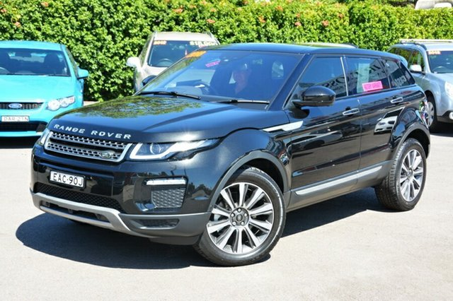 Used Land Rover Range Rover Evoque L538 MY18 TD4 180 HSE, 2017 Land Rover Range Rover Evoque L538 MY18 TD4 180 HSE Black 9 Speed Sports Automatic Wagon
