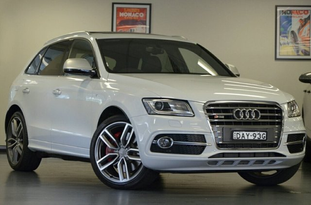 Used Audi SQ5 8R MY16 TDI Tiptronic Quattro, 2015 Audi SQ5 8R MY16 TDI Tiptronic Quattro Ibis White 8 Speed Sports Automatic Wagon