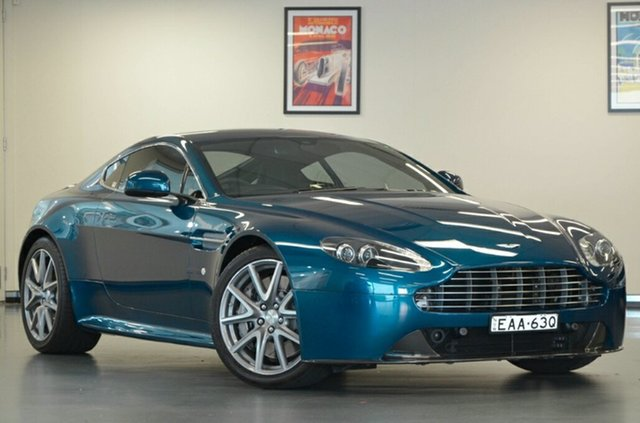 Used Aston Martin V8 MY15 Vantage Sportshift II S, 2015 Aston Martin V8 MY15 Vantage Sportshift II S Ocellus Teal 7 Speed Seq Manual Auto-Clutch Coupe